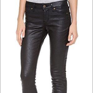 Rich & Skinny Coated BROWN skinny jeans sz. 27